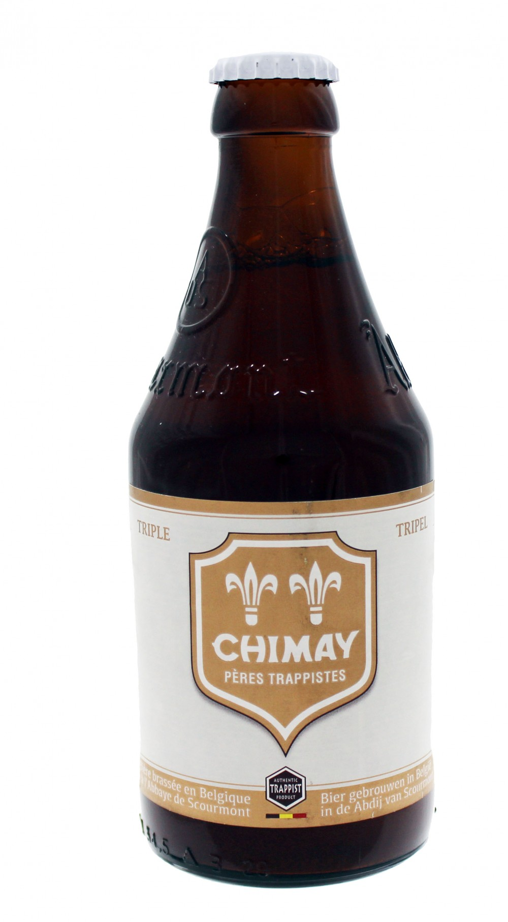 Photo de face de Chimay Tripel