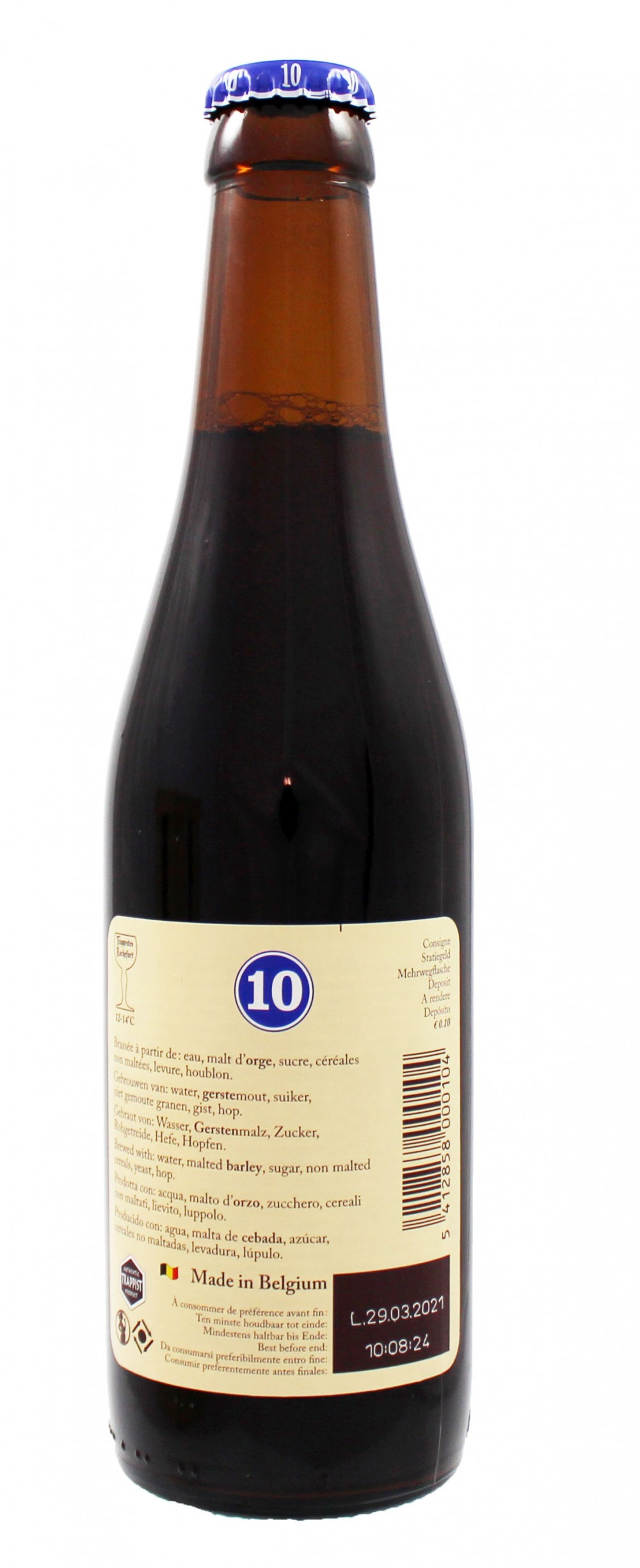 Photo de face de Trappistes Rochefort 10