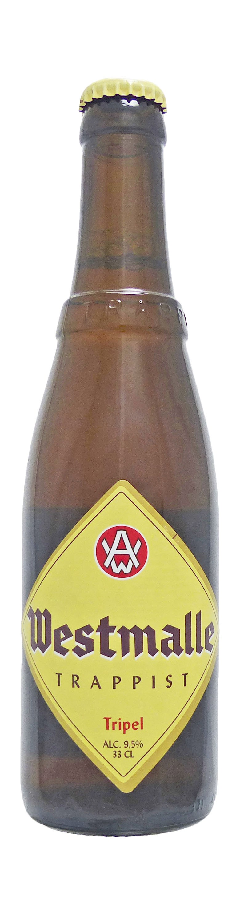 Photo de face de Westmalle Tripel