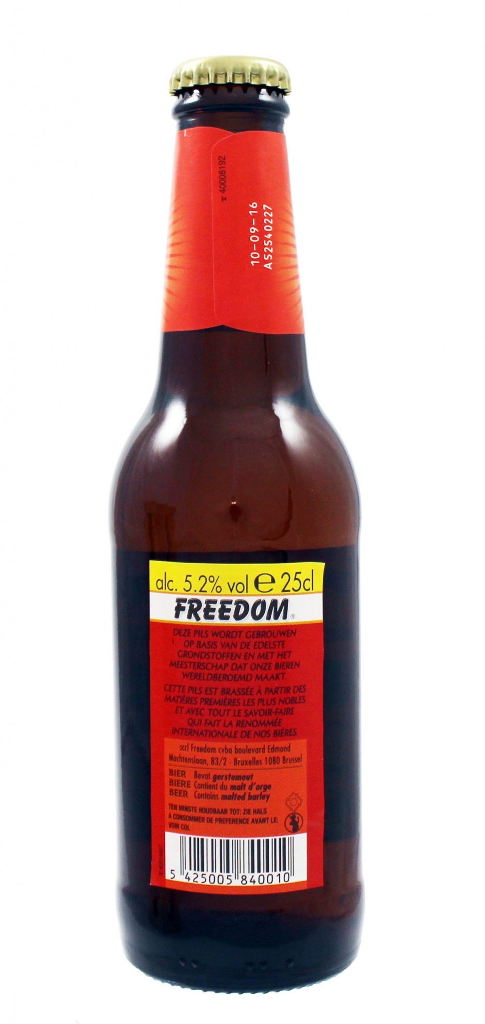 Photo de face de Freedom Pils