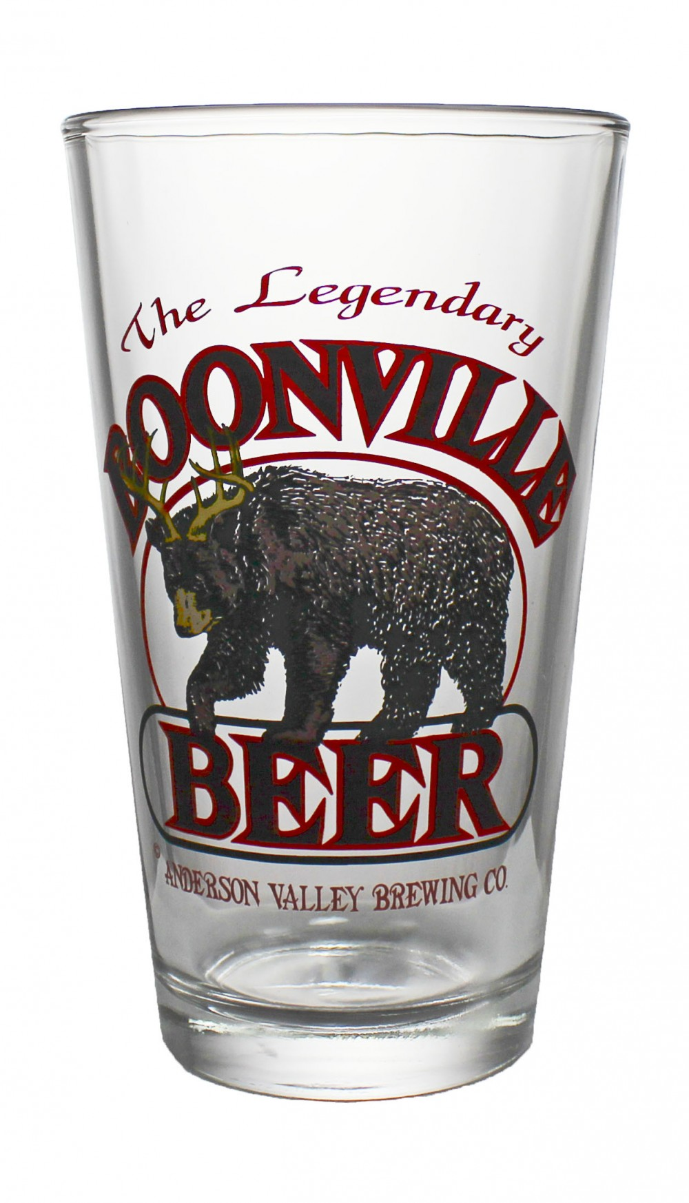 Photo de face du Verre Boonville Beer