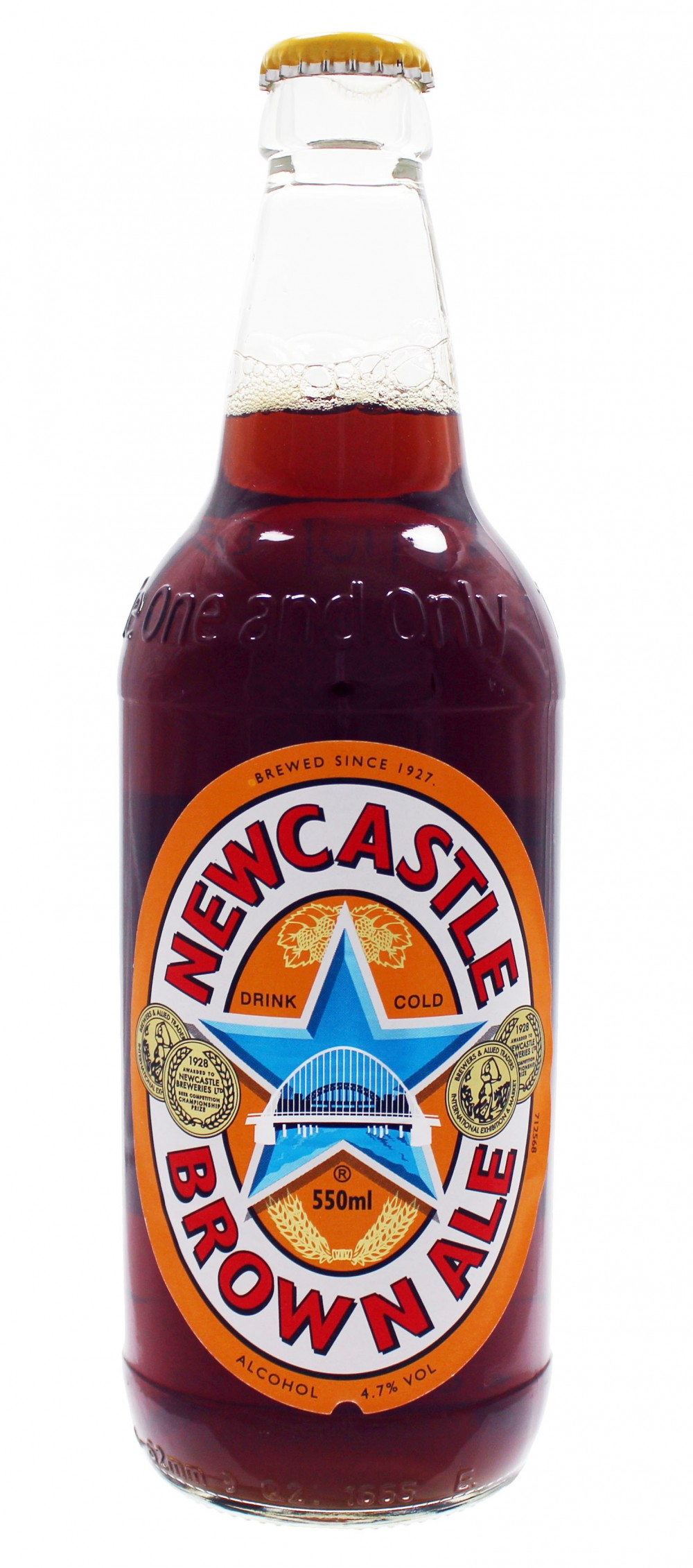 Photo de face de Newcastle Brown Ale
