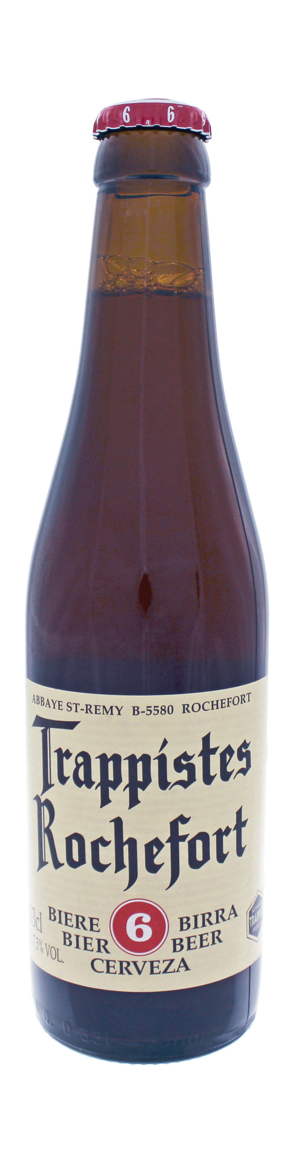 Photo de face de Trappistes Rochefort 6