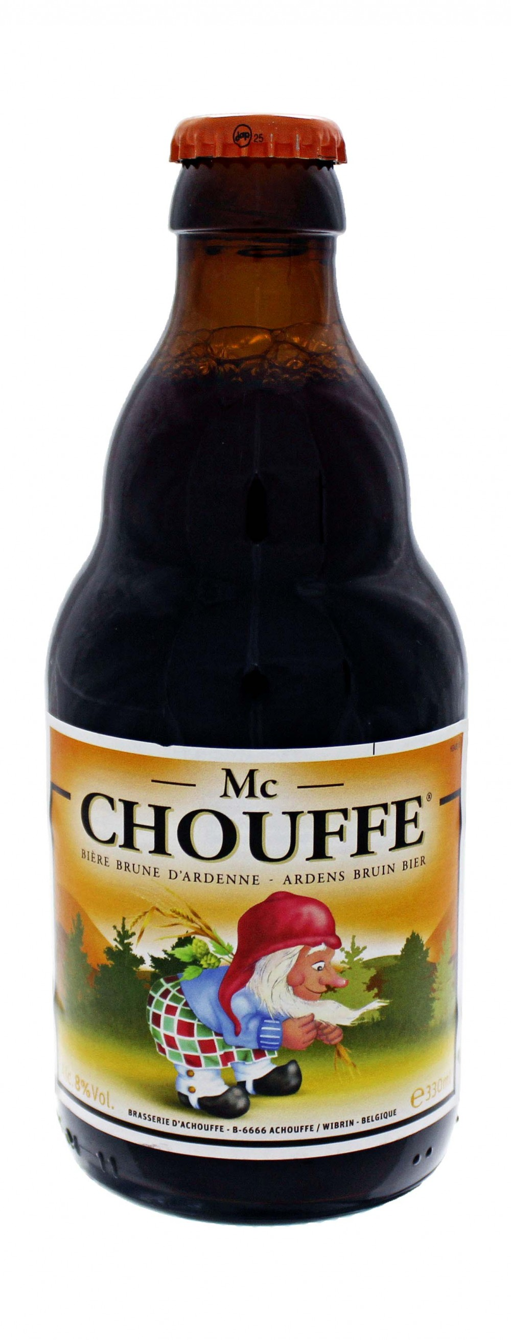 Photo de face de Mac Chouffe