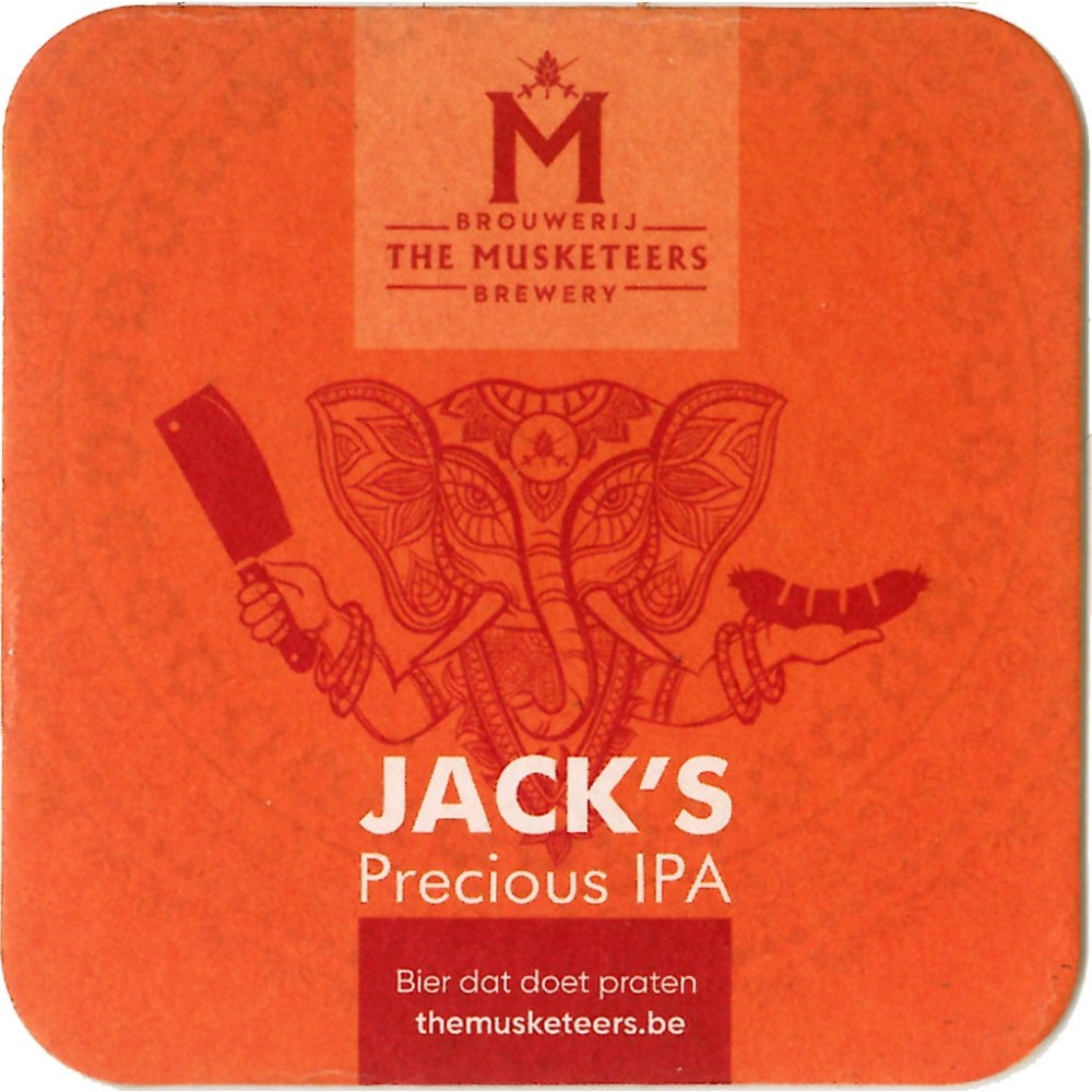 Sous-bocks Jack's The Precious IPA par The Musketeers