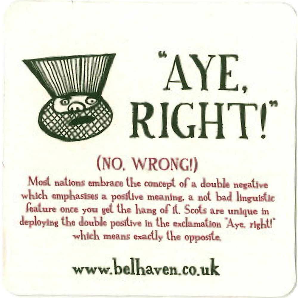"Sous-Bocks Belhaven ""Aye Right !"""