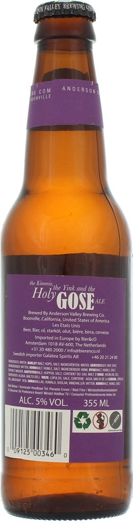 The Kimmie, The Yink and The Holy Gose Ale