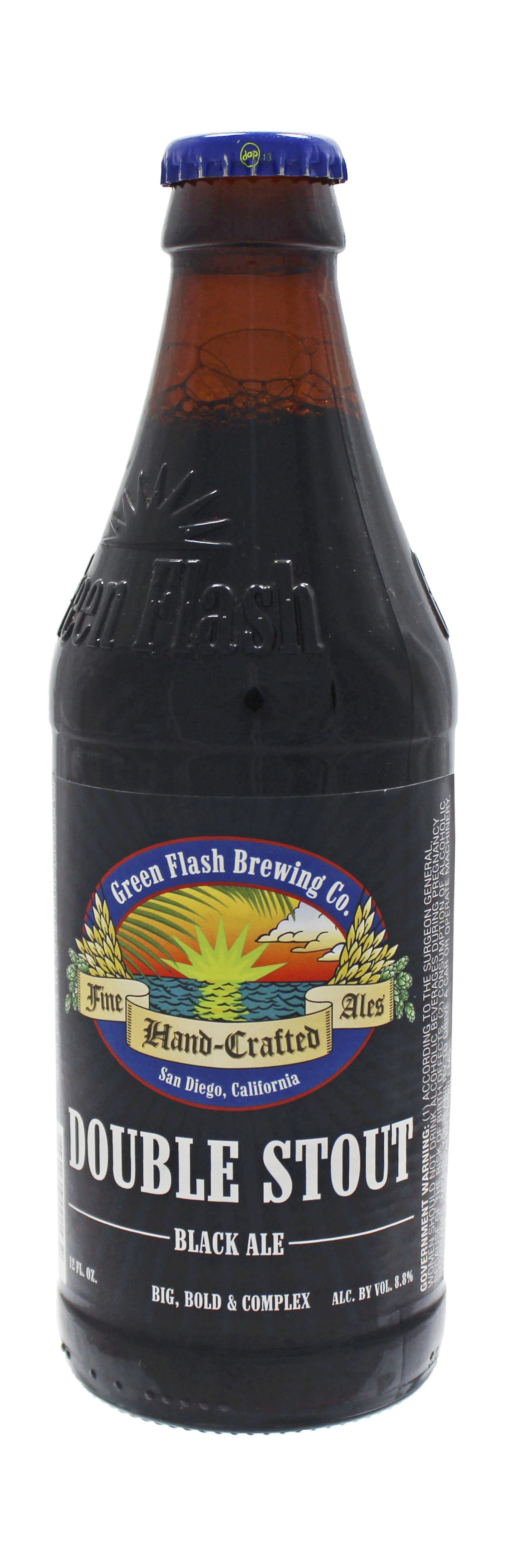 Photo de face de Green Flash Double Stout