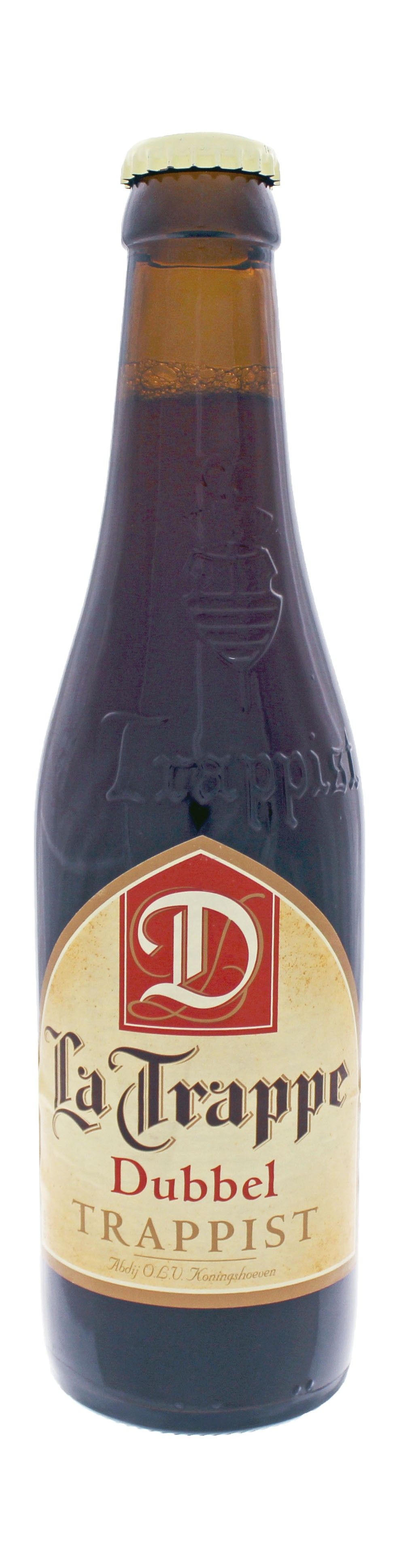Photo de face de La Trappe Trappist Dubbel