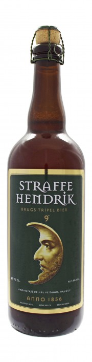 Photo de face de Straffe Hendrik Tripel