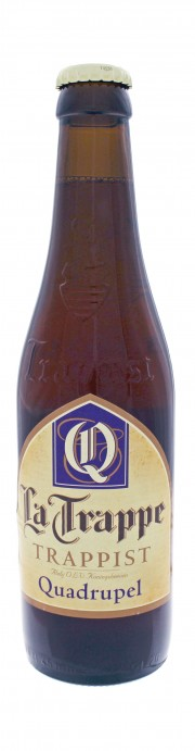 Photo de face de La Trappe Trappist Quadrupel