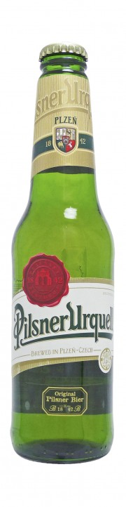 Photo de face de Pilsner Urquell
