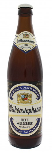 Photo de face de Weihenstephaner Hefeweissbier