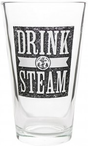 Verre droit Drink Steam par Anchor Brewing Company