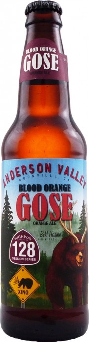 Bière Blood Orange Gose par la brasserie Anderson Valley