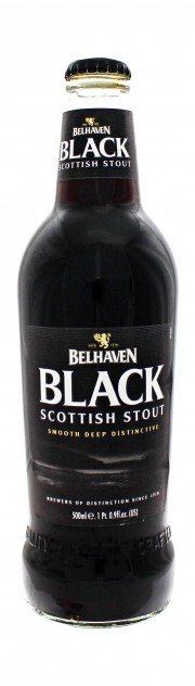 Photo de face de Black Scottish Stout