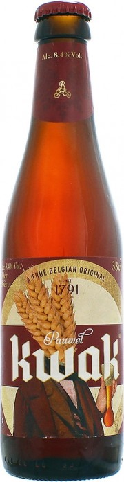 Photo de la bière Kwak de la brasserie Bosteels vu de face
