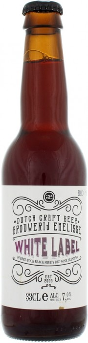 Bière Emelisse White Label Dubbel Bock Black Fruity Red Wine Blend